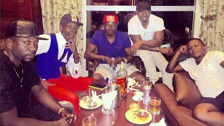 Chameleone hangs out with the Rich Gang
