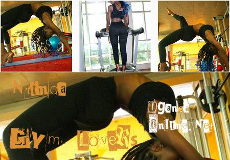 Model Lolah Adhama keeping fit