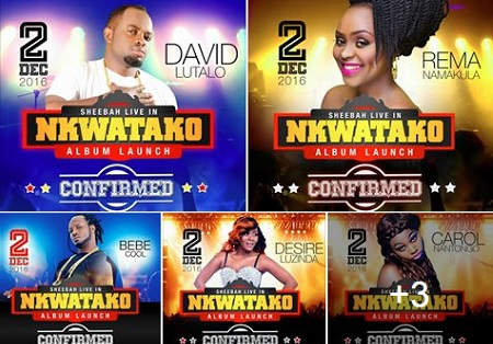 Artistes to perform alongside Sheebah Karungi