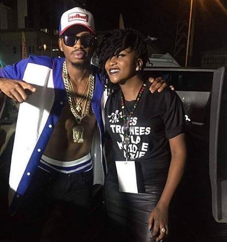 Platnumz and Irene Ntale in Lagos