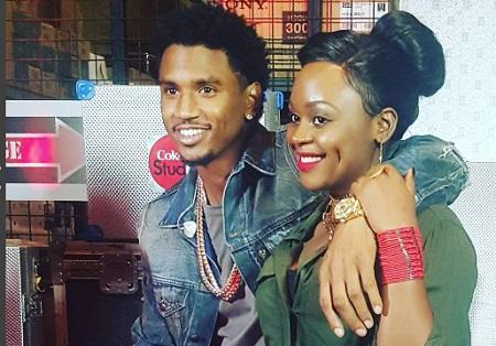 Trey Songz and Rema at the Coke Studio in Nairobi