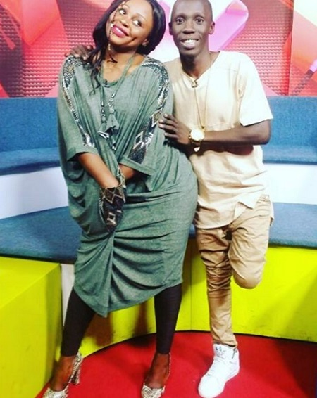 Rema and Douglas during the premiere of her Akaliro video