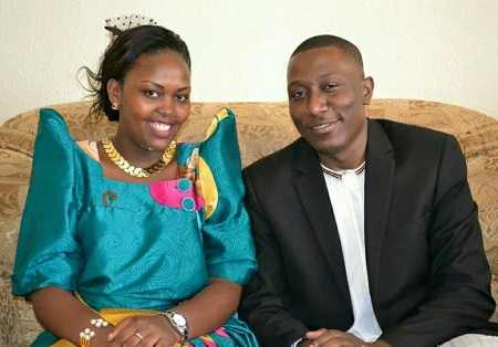 Roger Mugisha and his fiancee on their introduction day