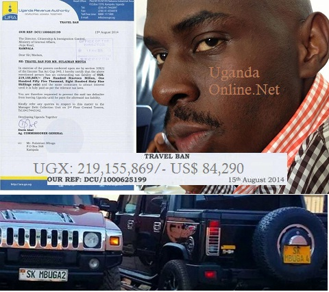 SK Mbugga slapped with a travel ban