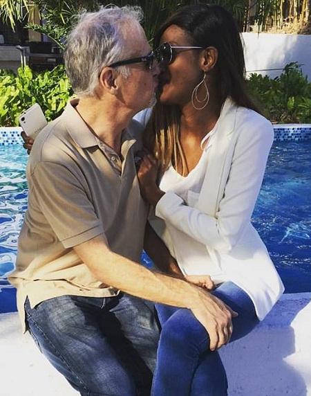 Sigler and his wife Salma on Sunday
