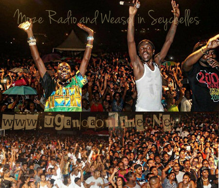 Moze Radio and Weasel in Seychelles
