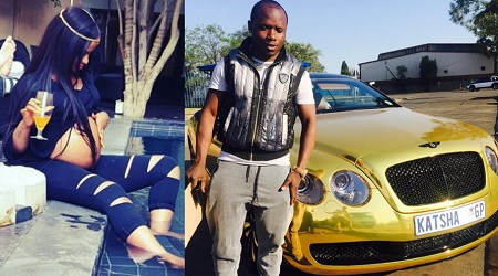 Shakira shows off her bump while Katsha shows off his Bentley