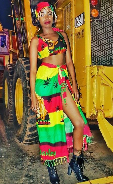 TNS singer, Sheebah Karungi before her performance at Club Dome