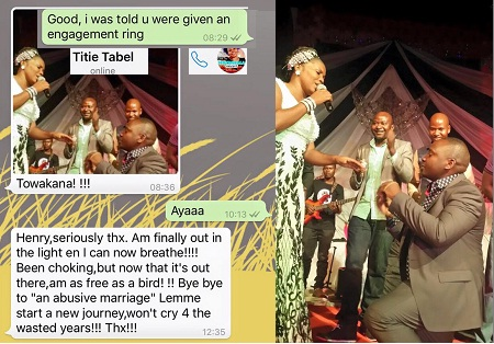 Titie's new lover proposing to her at Theatre Labonita
