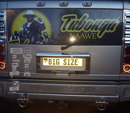 Bebe Cool's Hummer is now customized with Tubonge Naawe stickers