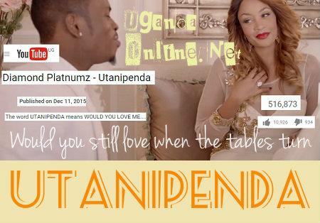 Utanipenda video by Diamond Platnumz