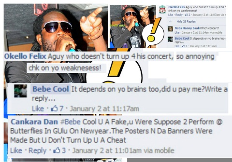 Bebe Cool in ugly exchange with fan
