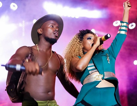 Benda and Sheebah in action