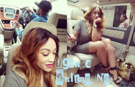 Zari being driven from the airport