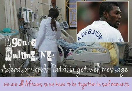 Adebayor sends Patricia get well message