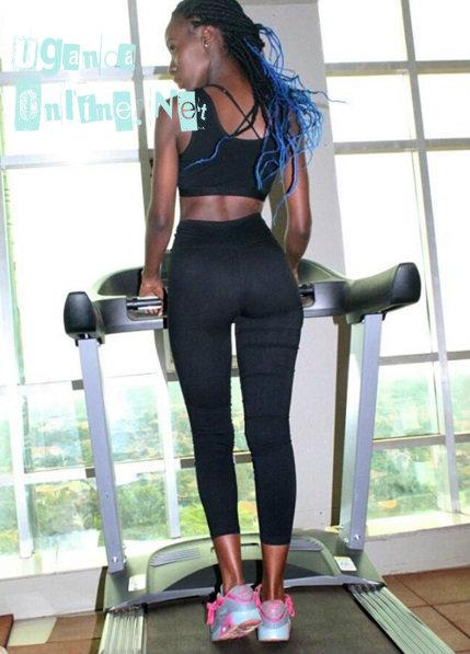 Lolah Adhama on a treadmill