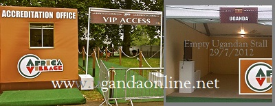 The accreditation office at the Olympics African Village did not see any Ugandans claiming their booth