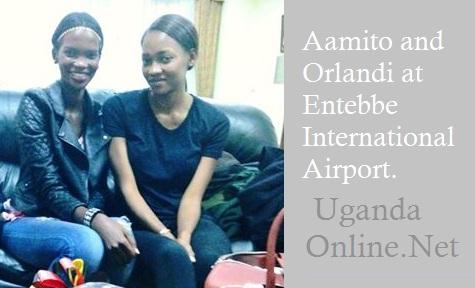 Aamito and Orlandi at the VIP lounge