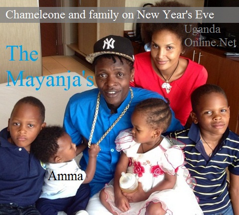 Chameleone and family in tgheir hotel room at Sheraton Hotel on New Year's Eve