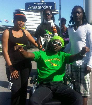 Bebe Cool in Amsterdam as part of the Euro Tour