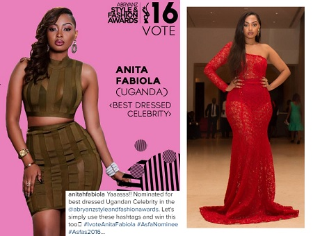 Inset is Anita at the Ghana Movie Awards