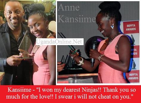 Comedian Anne Kansiime wins a BEFFTA award for best comedian