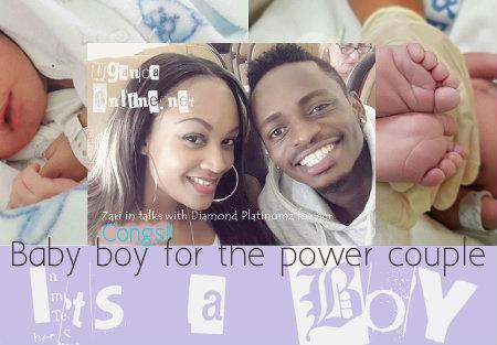 Baby boy for the power couple, Zari and Platnumz