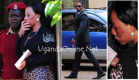 Bad Black and Meddie Ssentongo at the commercial court