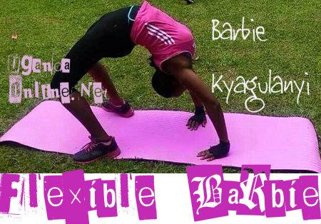 Flexible Barbie Kyagulanyi doing her thing
