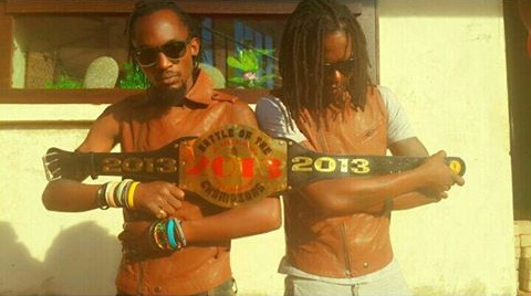 The Goodlyfe  Crew with the Battle of the Champions belt