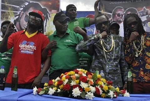 The Battle of the Champions promoter with Bebe Cool and the Goodlyfe Crew
