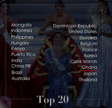 Kenya and Ghana beauty queens among the top 20 finalists