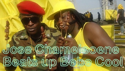 Jose Chameleone Fights Bebe Cool at Club Rouge