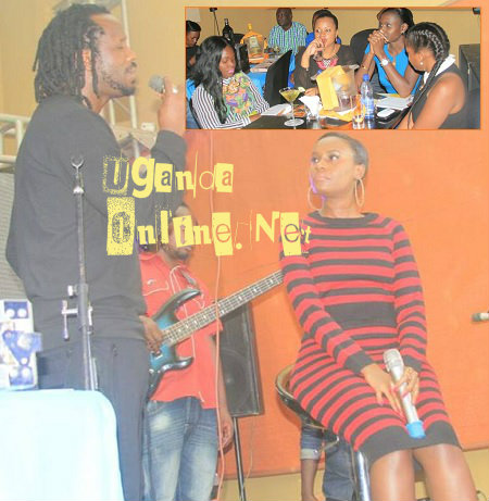 Bebe Cool and Juliana during the launch of the Go Mama album