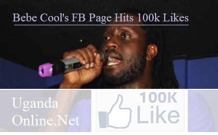 Bebe Cool's facebook page hits 100,000 followers