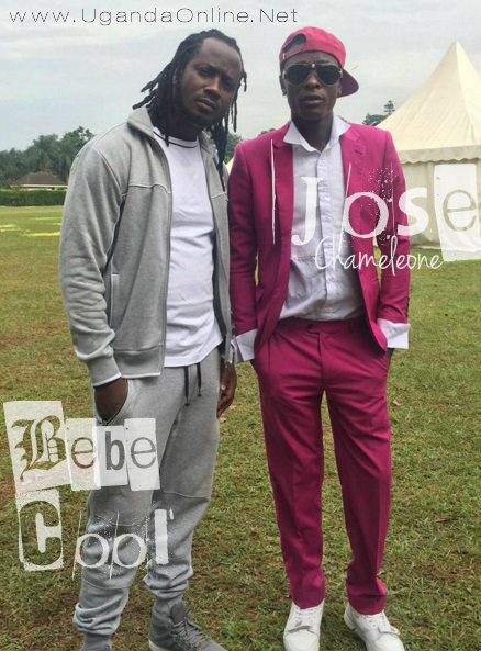 Bebe Cool and Chameleone at Kololo during the Women's day celebrations in Kololo