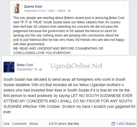 Zuena and Bebe Cool's posts