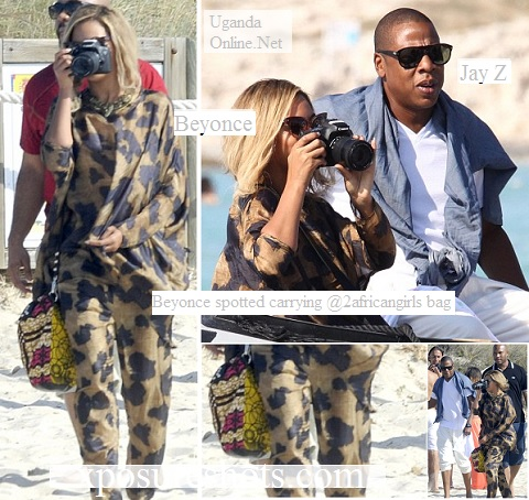 Beyonce and Husband Jay Z at beach in Spain