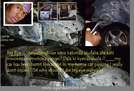 Big Eye's torched Toyota Naoh