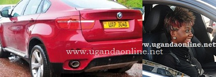 The Maroon BMW that has been impounded by URA and on the right is Bad Black after acquiring an AudiQ5 from her lover then David Greenhalgh