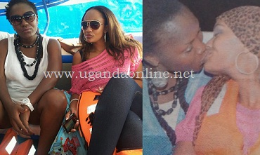 Sylvia Owori and Zari Hassan locked up in a french kiss