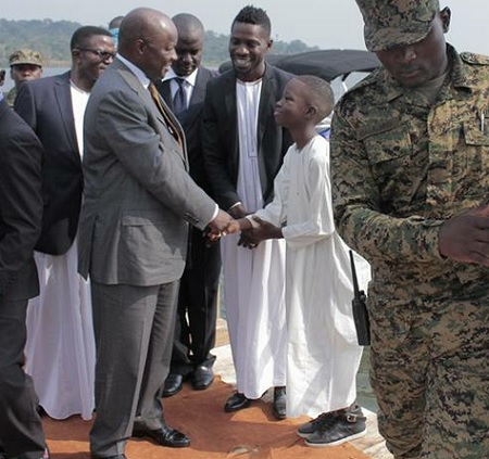 Bobi Wine's son meets the King of Buganda