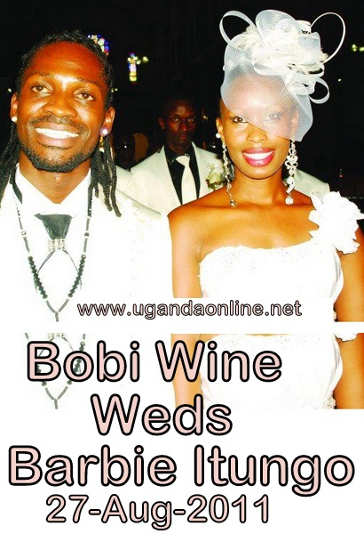 Bobi and Barbie on their wedding day at Serena Hotel in Kampala