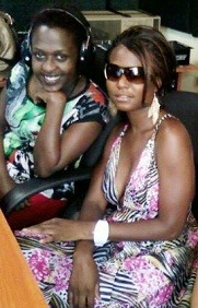 Lillian and Brenda at Radiocity Studios in Bugolobi