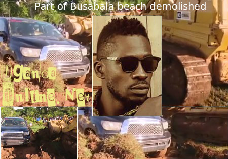 Part of Busabala Beach demolished
