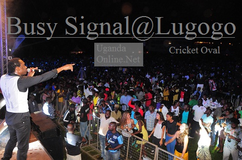 Busy Signal performing at Lugogo Cricket Oval last Friday