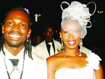 Bobi Wine and Barbie at Rubaga Church