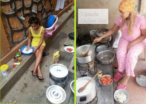 Nickita and Zari preparing meals