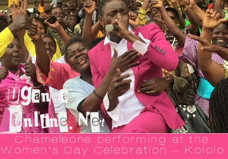 Chameleone being showed some love at the Women's day celebration