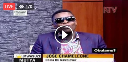 Chameleone while appearing on NTV April 28, 2017